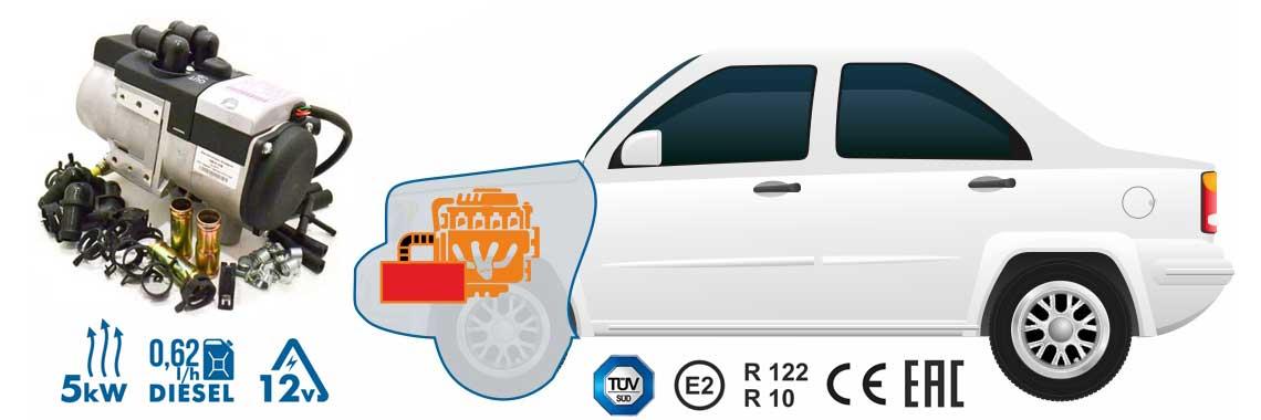 webasto wodne Binar 5kW 12V