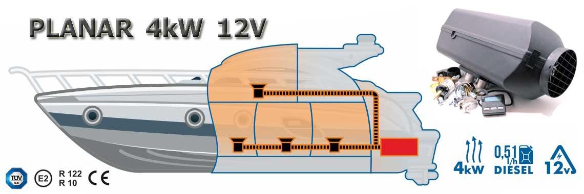 webasto Planar 4kW 12V cyfrowy sterownik